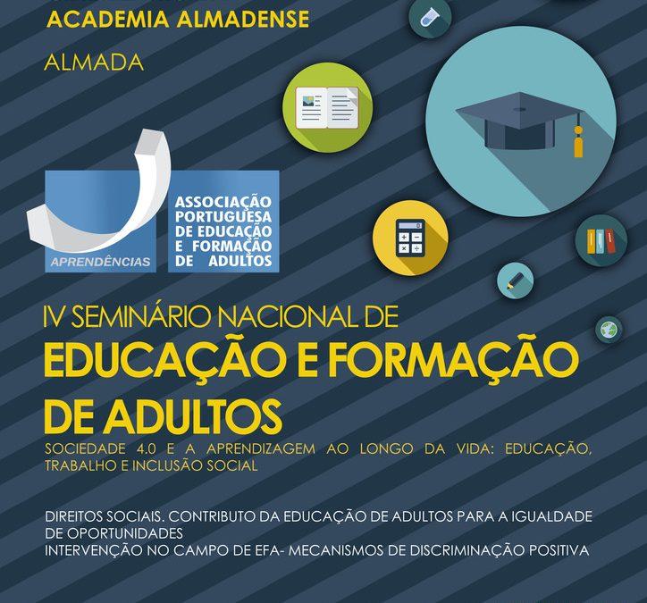 IV SEMINÁRIO NACIONAL DE EDUCAÇÃO E FORMAÇÃO DE ADULTOS