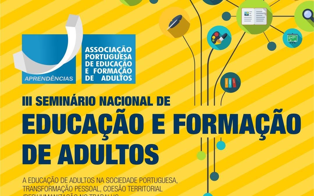 III SEMINÁRIO NACIONAL DE EDUCAÇÃO E FORMAÇÃO DE ADULTOS