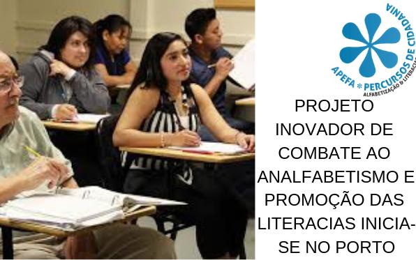 Projeto inovador de combate ao Analfabetismo e promoção das literacias