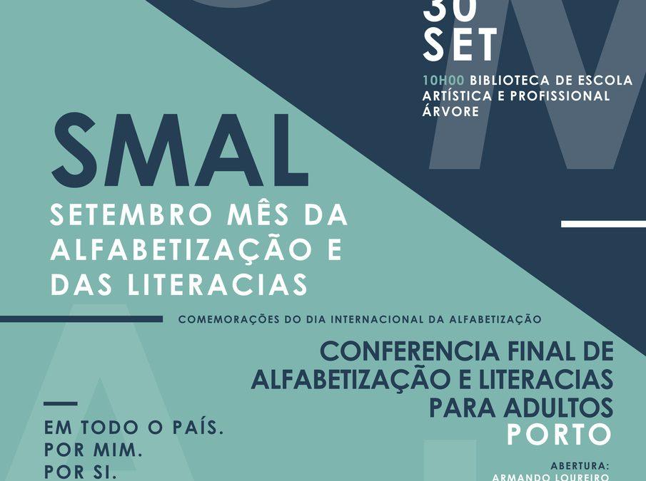 """Conferencia final da Iniciativa Nacional de Educação e Formação de Adultos, """"Setembro, Mês da Alfabetização e das Literacias"""""""